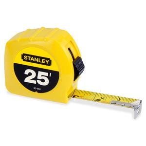 """Stanley Tape Rule - 25 ft Length 1"""" Width - 1/16 Graduations - Imperial Measuring System - Plastic - 1 Each - Yellow. Picture 2"""