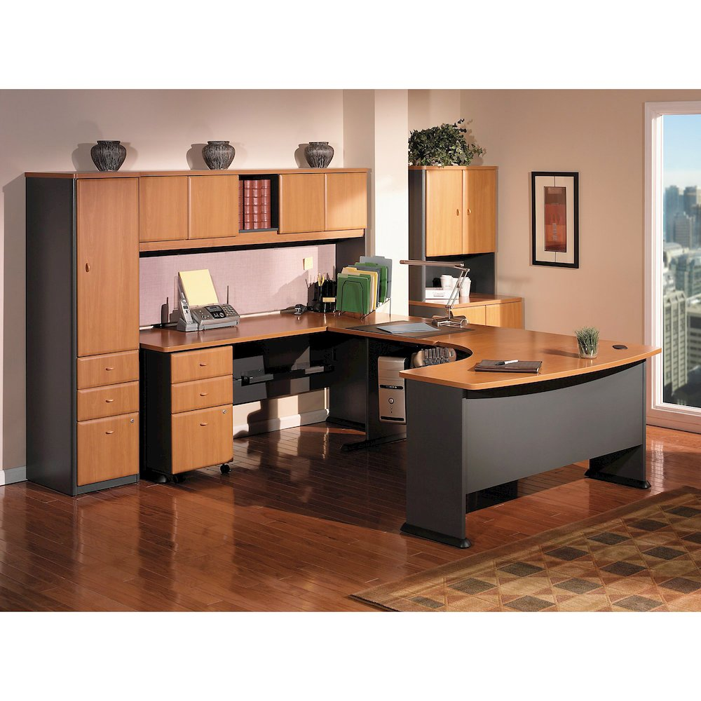 "Bush Business Furniture Series A 3 Drawer Mobile Pedestal - Assembled - 15.5"" x 20.3"" x 28.2"" - 3 x File Drawer(s) - Material: Pressboard, Melamine, Hardwood, Engineered Wood, Wood - Finish: Laminate,. Picture 4"