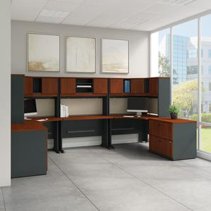 Bush Business Furniture Series A 2 Drawer Mobile File Cabinet, Assembled, Hansen Cherry/Galaxy. Picture 2
