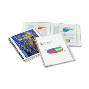 """Cardinal ClearThru Letter Presentation Book - 8 1/2"""" x 11"""" - 24 Sheet Capacity - 12 Internal Pocket(s) - Poly - Clear - 1 Each. Picture 3"""