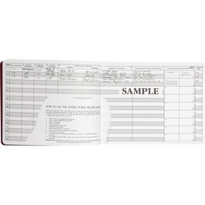 """Dome Notary Public Book - 64 Sheet(s) - Thread Sewn - 10 1/2"""" x 8 1/4"""" Sheet Size - 10 Columns per Sheet - Burgundy - White Sheet(s) - Maroon Cover - Recycled - 1 Each. Picture 6"""