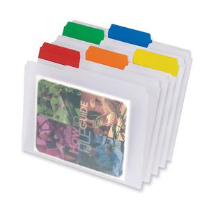 """Pendaflex EasyView 1/3 Tab Cut Letter Top Tab File Folder - 8 1/2"""" x 11"""" - Top Tab Location - Assorted Position Tab Position - Poly - Clear - 25 / Box. Picture 3"""