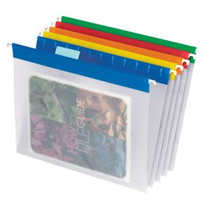 "Pendaflex EasyView 1/5 Tab Cut Hanging Folder - 9 1/4"" x 11 3/4"" - Assorted Position Tab Position - Poly - Blue, Yellow, Red, Orange, Green - 25 / Box. Picture 2"