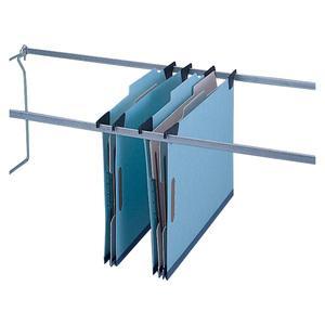 """Pendaflex Blue Pressboard Hanging Classification Folder - Letter - 8 1/2"""" x 11"""" Sheet Size - 2"""" Expansion - 2 3/4"""" Fastener Capacity for Folder - 1 Divider(s) - 25 pt. Folder Thickness - Pressboard - . Picture 2"""