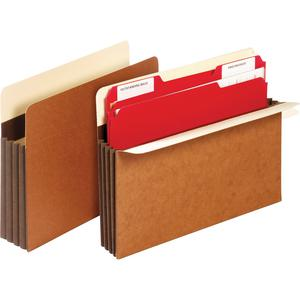 """Pendaflex Letter Recycled Expanding File - 8 1/2"""" x 11"""" - 3 1/2"""" Expansion - Tyvek - Brown - 10% - 10 / Box. Picture 3"""