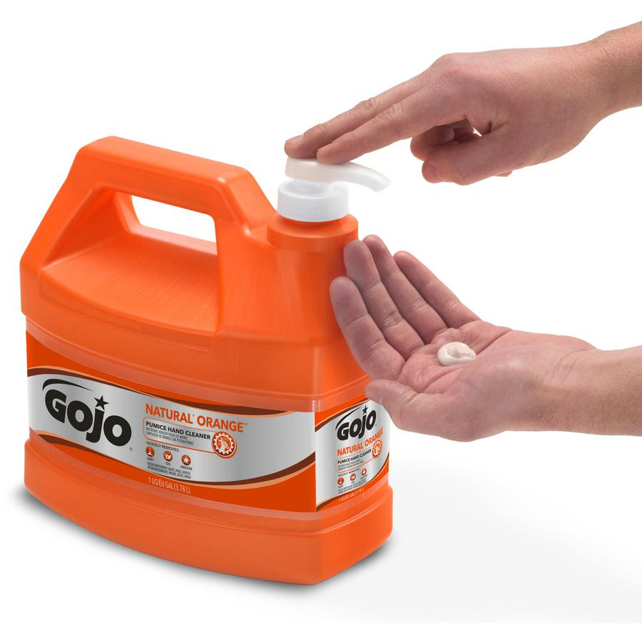 Gojo® Natural Orange Pumice Hand Cleaner - Citrus Scent - 1 gal (3.8 L) - Hand - White - 1 Each. Picture 3