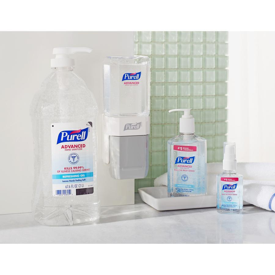 PURELL® Sanitizing Gel - 67.6 fl oz (2 L) - Pump Bottle Dispenser - Hand - Clear - 1 Each. Picture 2