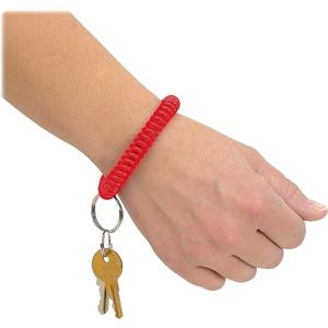 MMF Wrist Coil Key Rings - Plastic - 1 Each - Red. Picture 2