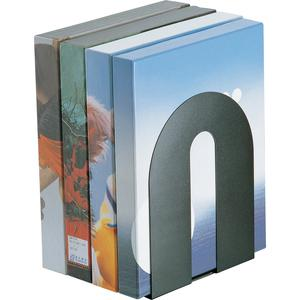 """OIC Steel Construction Heavy-Duty Bookends - 10"""" Height - Desktop - Non-skid Base, Chip Resistant, Non-slip, Scratch Resistant - Black - Steel - 2 / Pair. Picture 5"""