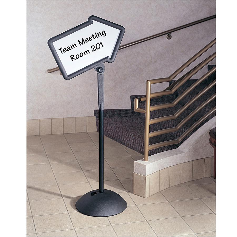 """Safco Write Way Dual-sided Directional Sign - 1 Each - 18"""" Width x 64.3"""" Height - Arrow Shape - Both Sides Display, Magnetic, Durable - Steel - Black. Picture 2"""