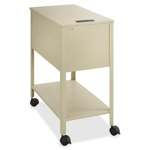 """Safco Extra Deep Mobile Tub File - 300 lb Capacity - 4 Casters - 2"""" Caster Size - Steel - x 13.5"""" Width x 24.8"""" Depth x 28.3"""" Height - Putty - 1 Each. Picture 3"""