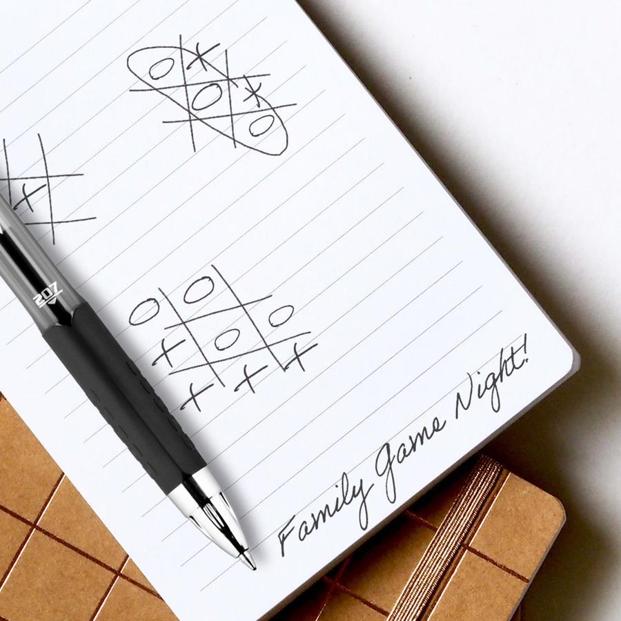 uni-ball 207 Retractable Gel - Medium Pen Point - 0.7 mm Pen Point Size - Refillable - Retractable - Violet Gel-based Ink - Translucent Barrel - 12 / Dozen. Picture 6