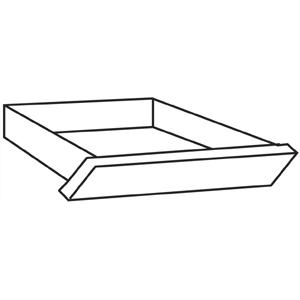 """HON 10500 Series Angled Center Drawer - 22"""" Width x 15.4"""" Depth x 2.5"""" Height - Wood - Bourbon Cherry. Picture 3"""