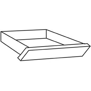 """HON 10500 Series Angled Center Drawer - 26"""" Width x 15.4"""" Depth x 2.5"""" Height - Wood - Bourbon Cherry. Picture 2"""