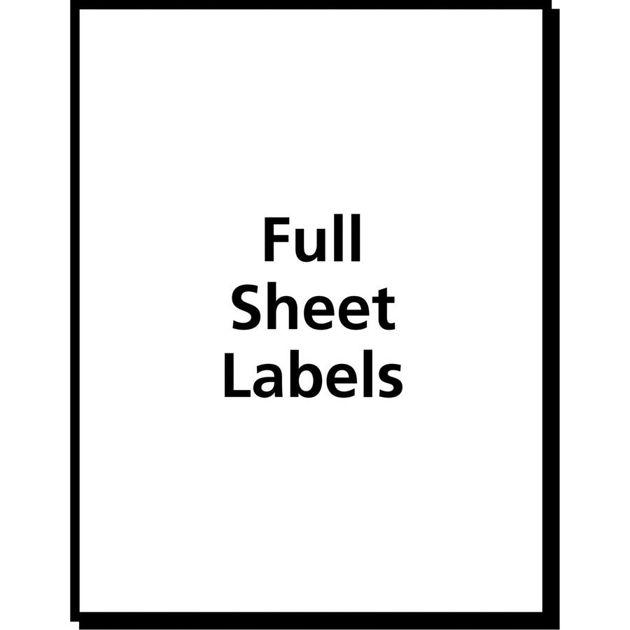 """Avery® Shipping Labels - TrueBlock - 8 1/2"""" x 11"""" Length - Permanent Adhesive - Rectangle - Laser, Inkjet - White - 1 / Sheet - 25 / Pack. Picture 5"""