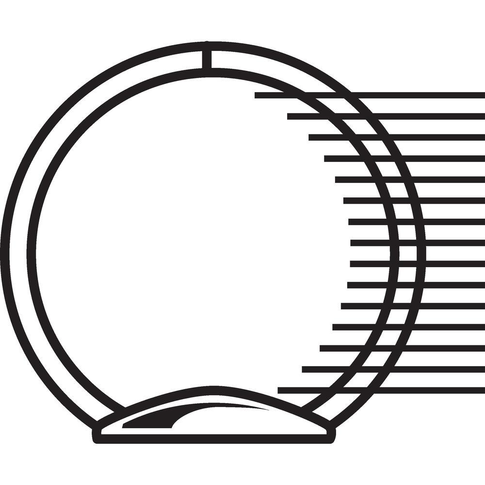 "Wilson Jones ACCOHIDE Binder - 1"" Binder Capacity - Letter - 8 1/2"" x 11"" Sheet Size - 175 Sheet Capacity - Round Ring Fastener(s) - 35 pt. Binder Thickness - Polypropylene - Blue - Eco-friendly, PVC-. Picture 5"
