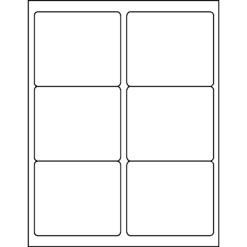 """Business Source Bright White Premium-quality Address Labels - Permanent Adhesive - 3.33"""" x 4"""" Length - Rectangle - Laser, Inkjet - White - 6 / Sheet - 100 Total Sheets - 600 / Pack. Picture 3"""