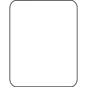 """Cleartex Ultimat Rectangular Chair Mat, Polycarbonate, For Plush Pile Carpets (over 1/2""""), Size 35"""" x 47"""". Picture 6"""