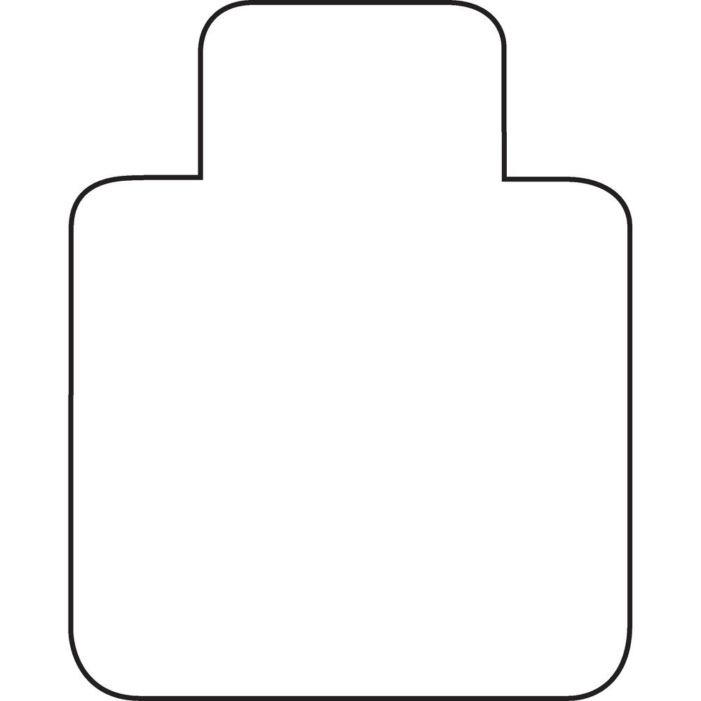 """Cleartex Ultimat Chair Mat, Clear Polycarbonate, For Low & Medium Pile Carpets (up to 1/2""""), Rectangular with Lip, Size 35"""" x 47"""". Picture 6"""
