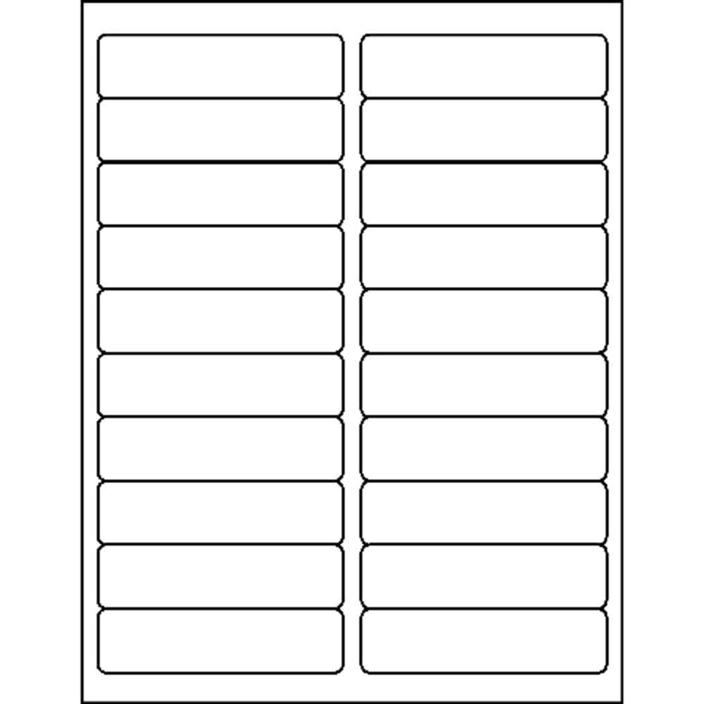 """Business Source Bright White Premium-quality Address Labels - Permanent Adhesive - 1"""" x 4"""" Length - Rectangle - Laser, Inkjet - White - 20 / Sheet - 100 Total Sheets - 2000 / Pack. Picture 3"""