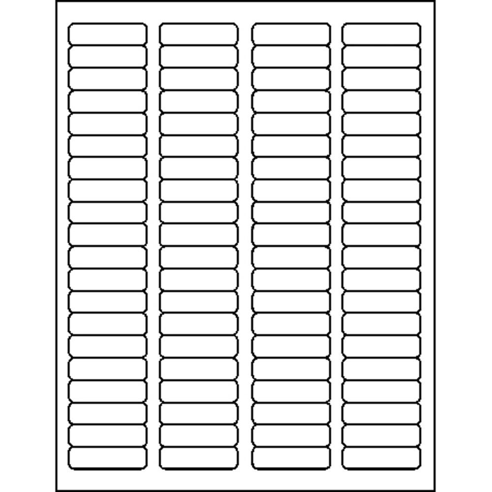 """Business Source Address Laser Labels - Permanent Adhesive - 0.50"""" x 1.75"""" Length - Rectangle - Laser - White - 80 / Sheet - 100 Total Sheets - 8000 / Pack. Picture 3"""
