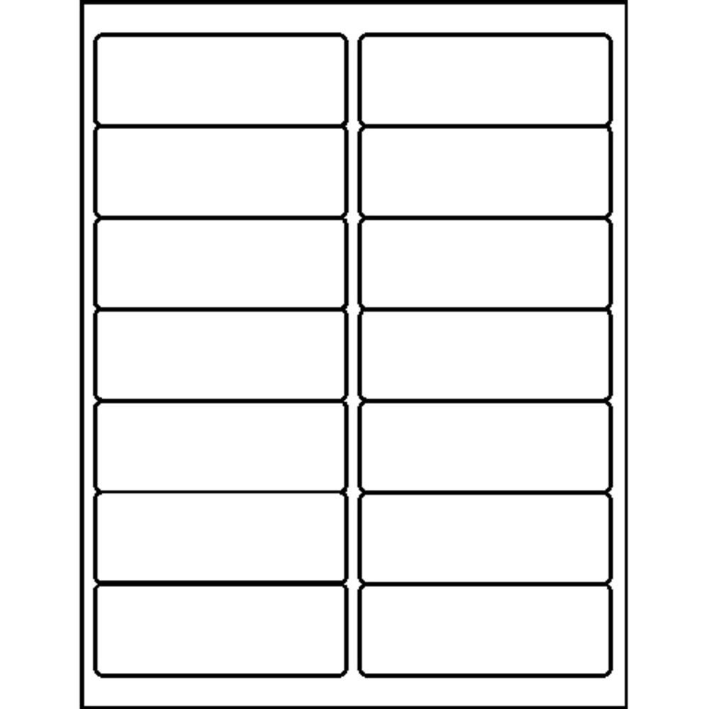 """Business Source Bright White Premium-quality Address Labels - Permanent Adhesive - 1.33"""" x 4"""" Length - Rectangle - Laser, Inkjet - White - 14 / Sheet - 250 Total Sheets - 3500 / Pack. Picture 3"""