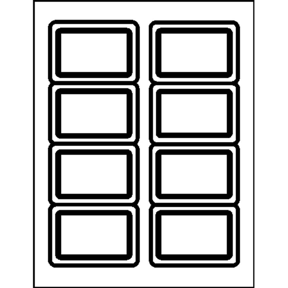 """Business Source Laser/Inkjet Name Badge Labels - 2.33"""" x 3.38"""" Length - Rectangle - Laser, Inkjet - Blue - 8 / Sheet - 400 / Pack. Picture 3"""