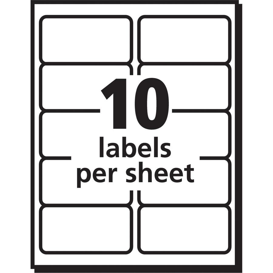 """Avery® 2""""x4"""" White Shipping Labels - Permanent Adhesive - Rectangle - Inkjet - White - Paper - 10 / Sheet - 50 Total Sheets - 500 Total Label(s) - 5. Picture 3"""