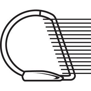 "Business Source Slanted D-ring Binders - 4"" Binder Capacity - 3 x D-Ring Fastener(s) - 2 Internal Pocket(s) - Chipboard, Polypropylene - Black - PVC-free, Non-stick, Spine Label, Gap-free Ring, Non-gl. Picture 4"