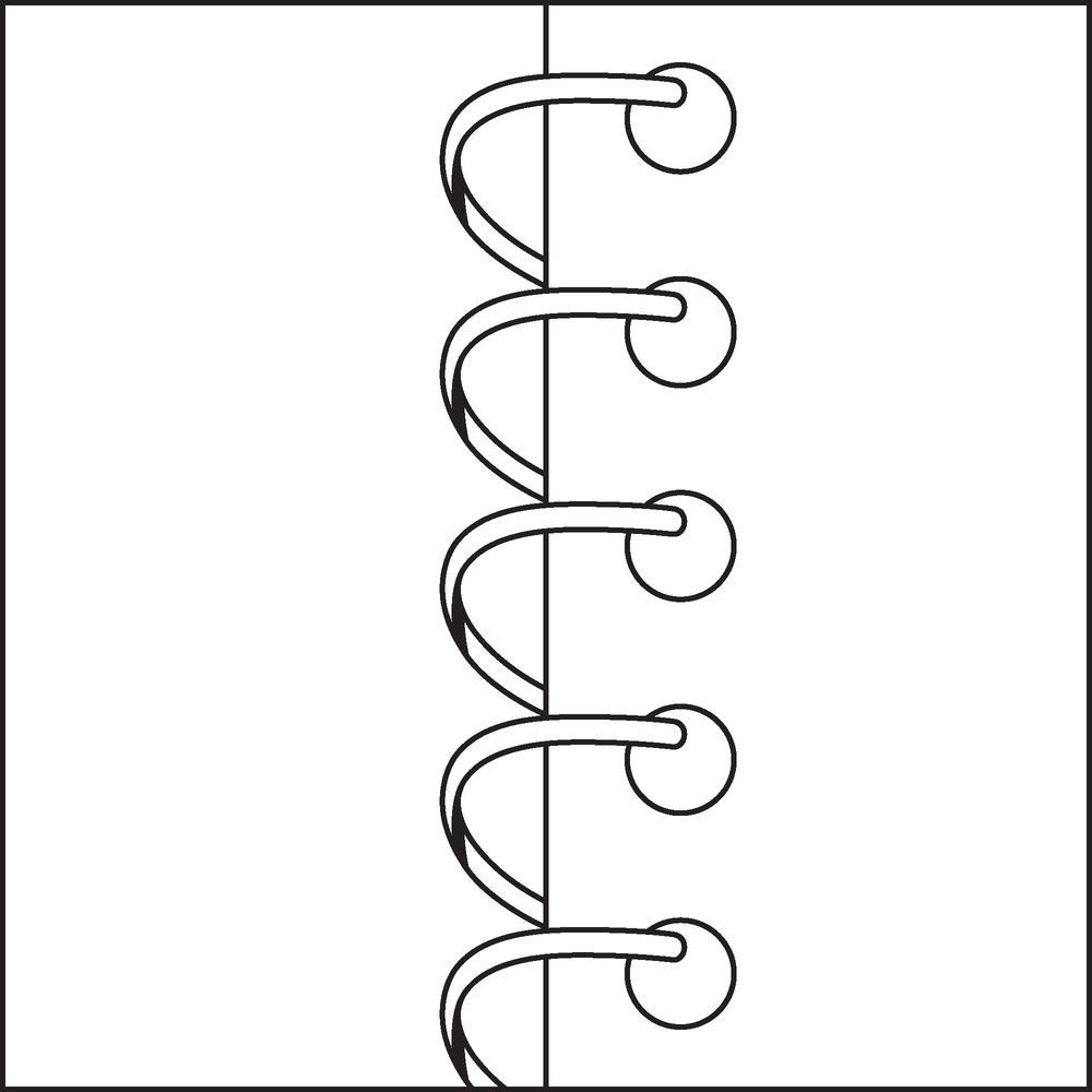 "Business Source Side Wirebound Ruled Memo Book - 50 Sheet(s) - Wire Bound - 3"" x 5"" Sheet Size - White - 12 / Dozen. Picture 3"