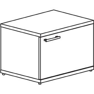 "Lorell Concordia Series Mahogany Laminate Desk Ensemble Storage Cabinet - 23.6"" x 17.8"" x 16.5"" - Mahogany - Mahogany Laminate - Assembly Required"