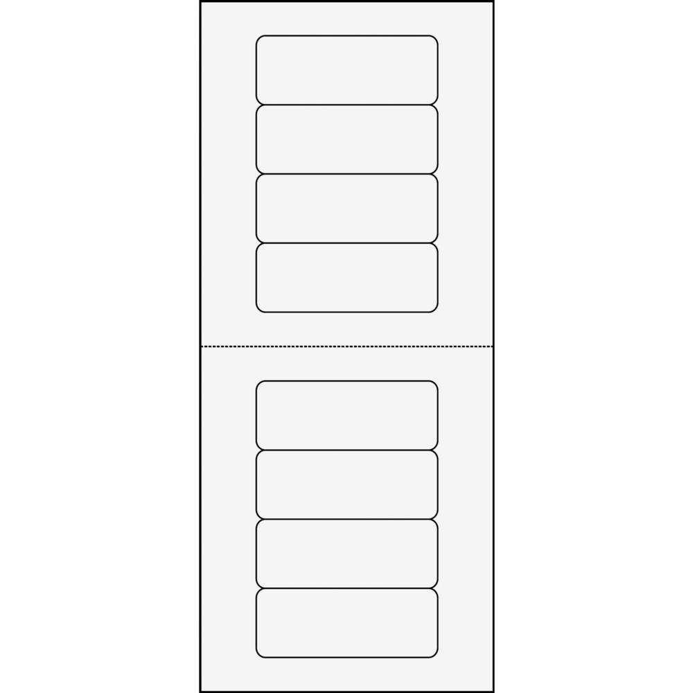 Avery® Mini-Sheets Address Label - Permanent Adhesive - Rectangle - Laser, Inkjet - White - Paper - 8 / Sheet - 25 Total Sheets - 200 Total Label(s) - 1. Picture 4