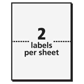 Avery® Border Print or Write Name Tags - Removable Adhesive - Rectangle - Laser, Inkjet - White, Red - Paper - 2 / Sheet - 50 Total Sheets - 100 Total Label(s) - 3. Picture 4