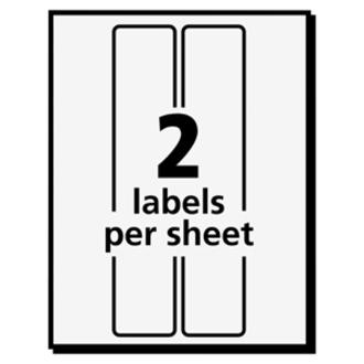 Avery® Address Label - Permanent Adhesive - Rectangle - White - Paper - 2 / Sheet - 30 Total Sheets - 60 Total Label(s) - 3. Picture 2