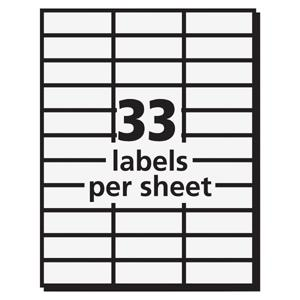 "Avery® Mailing Labels for Copiers - Permanent Adhesive - 1 1/2"" Width x 2 13/16"" Length - Rectangle - White - 33 / Sheet - 16500 / Box. Picture 3"