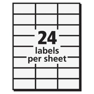 Avery® Copier Address Labels - Permanent Adhesive - Rectangle - White - Paper - 24 / Sheet - 100 Total Sheets - 2400 Total Label(s) - 5. Picture 3