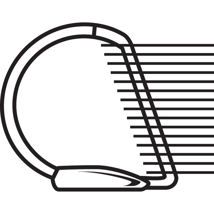 "Avery® Durable View 3 Ring Binder - 1"" Binder Capacity - Letter - 8 1/2"" x 11"" Sheet Size - 250 Sheet Capacity - 3 x Slant Ring Fastener(s) - 2 Internal Pocket(s) - Polypropylene - Black - Recycle. Picture 4"