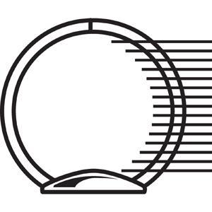 "Avery® Showcase Economy View Binder - 1"" Binder Capacity - Letter - 8 1/2"" x 11"" Sheet Size - 175 Sheet Capacity - Ring Fastener(s) - 2 Internal Pocket(s) - Black - 14.72 oz - 1 Each. Picture 2"