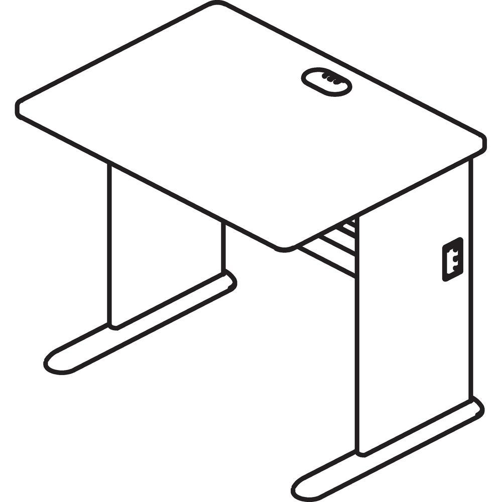 Bush Business Furniture Series A 48W Desk, Hansen Cherry/Galaxy. Picture 7