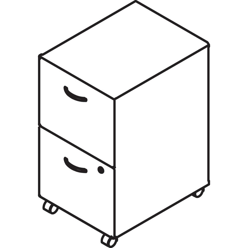 Bush Business Furniture Series A 2 Drawer Mobile File Cabinet, Assembled, Hansen Cherry/Galaxy. Picture 10