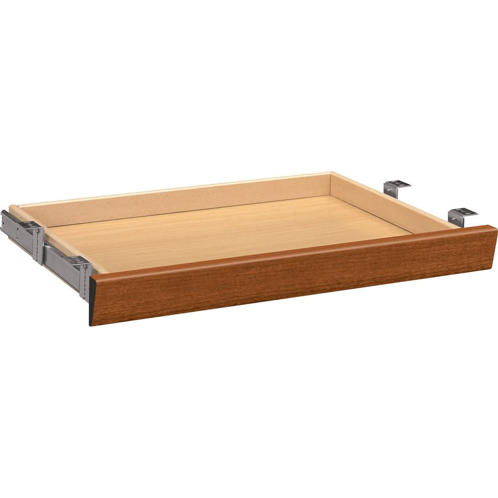 """HON 10500 Series Angled Center Drawer - 26"""" Width x 15.4"""" Depth x 2.5"""" Height - Wood - Bourbon Cherry. Picture 3"""