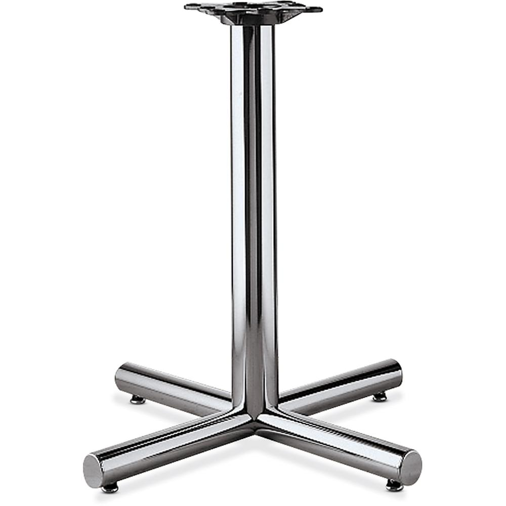 """HON Hospitality Table X-Base - 26"""" Height x 26"""" Width - Assembly Required - Chrome. Picture 2"""
