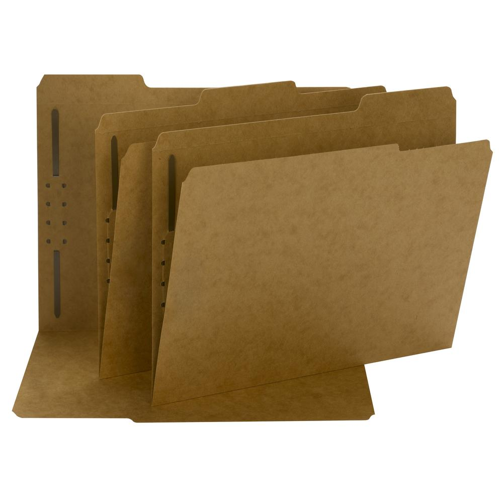 """Smead Fastener File Folders - Letter - 8 1/2"""" x 11"""" Sheet Size - 3/4"""" Expansion - 1 x 2K Fastener(s) - 2"""" Fastener Capacity for Folder - Straight Tab Cut - Top Tab Location - Assorted Position Tab Pos. Picture 3"""