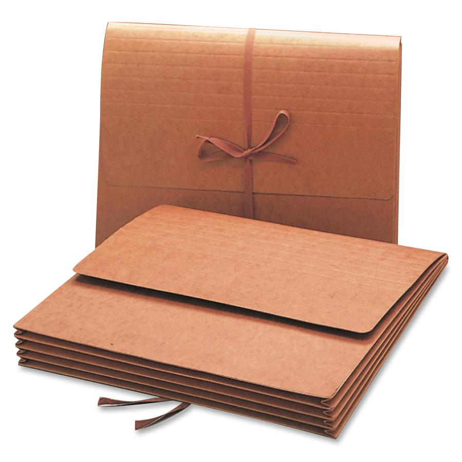 """Smead Letter Recycled File Wallet - 8 1/2"""" x 11"""" - 3 1/2"""" Expansion - Redrope - Redrope - 30% - 1 Each. Picture 2"""