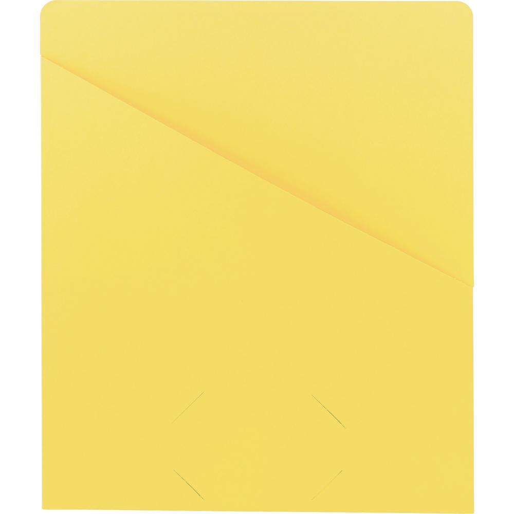 """Smead Organized Up Slash-Style File Jackets - Letter - 8 1/2"""" x 11"""" Sheet Size - 11 pt. Folder Thickness - Yellow - 1.49 lb - Recycled - 25 / Pack. Picture 3"""