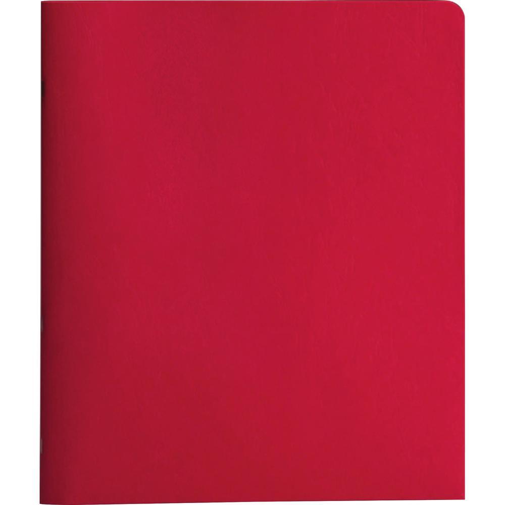 "Smead Letter Recycled Pocket Folder - 8 1/2"" x 11"" - 3 Fastener(s) - 1/2"" Fastener Capacity for Folder - 2 Internal Pocket(s) - Red - 10% - 25 / Box. Picture 2"