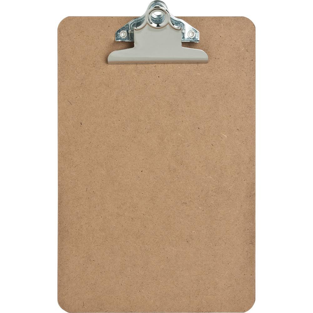 Sparco Hardboard Clipboards 6 Quot X 9 Quot Hardboard Brown