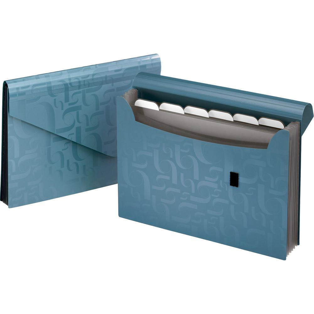 "Pendaflex Poly Expanding Files - 13 1/2"" x 9 1/16"" Sheet Size - 7 Pocket(s) - Poly - Blue - 1 Each"