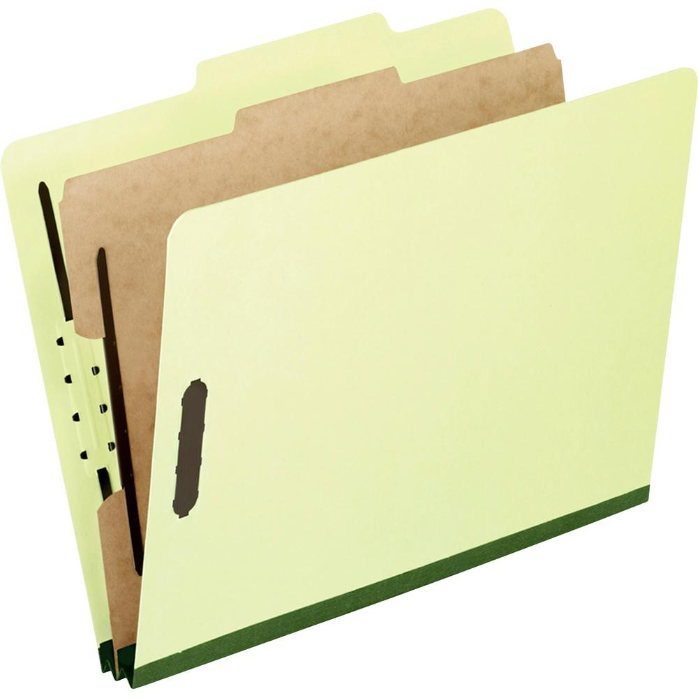 "Pendaflex Legal Size Pressboard Classification Folders - Legal - 8 1/2"" x 14"" Sheet Size - 2"" Expansion - 4 Fastener(s) - 2"" Fastener Capacity for Folder, 1"" Fastener Capacity for Divider - 2/5 Tab Cu. Picture 2"