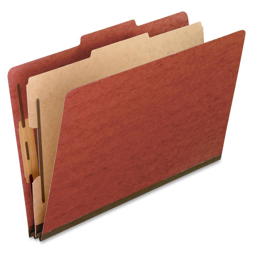 "Pendaflex Legal Size Pressboard Classification Folders - Legal - 8 1/2"" x 14"" Sheet Size - 2"" Expansion - 4 Fastener(s) - 2"" Fastener Capacity for Folder, 1"" Fastener Capacity for Divider - 2/5 Tab Cu. Picture 2"